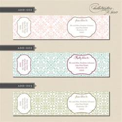 label designer belletristics stationery design and inspiration for the diy new address label and water
