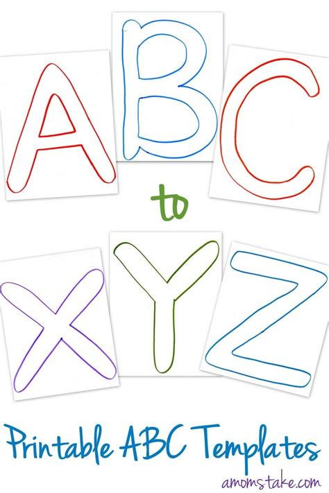 abc printable letter templates  preschool