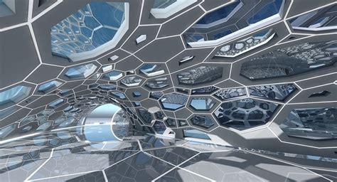 future 3D Futuristic Architectural Dome Interior 2