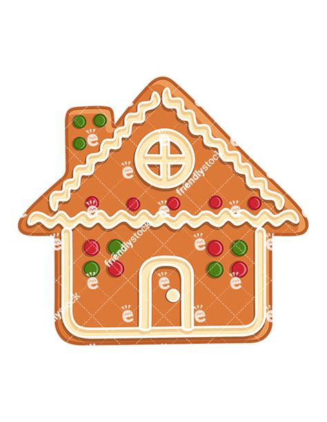 Gingerbread House Clip Gingerbread House Isolated Vector Clipart