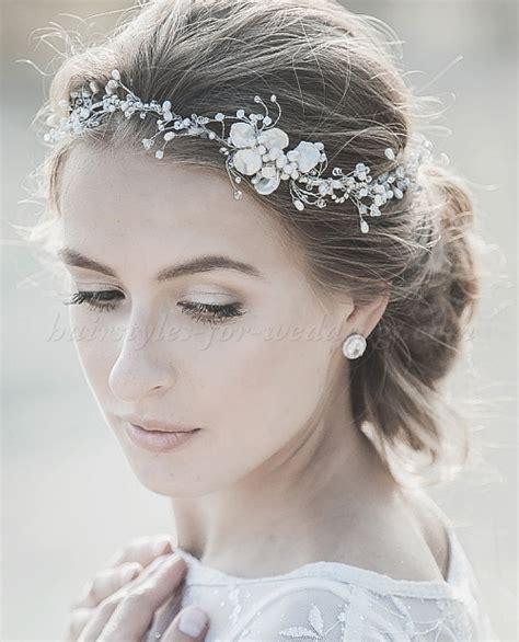 bridal headbands   pearl wedding headband   Hairstyles for