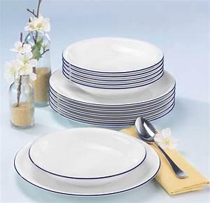 Seltmann Weiden Geschirr : seltmann weiden tafelservice compact blaurand 12 teilig online kaufen otto ~ Whattoseeinmadrid.com Haus und Dekorationen