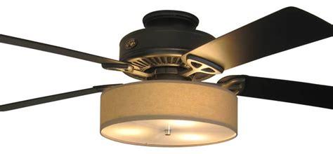 linen drum shade light kit for ceiling fans cognac 15