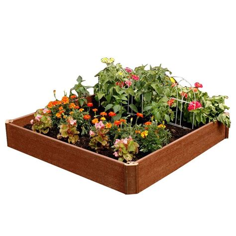 composite wood raised garden beds garden center  home