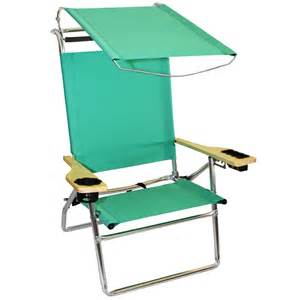 canopy hi seat aluminum beach chair seafoam green