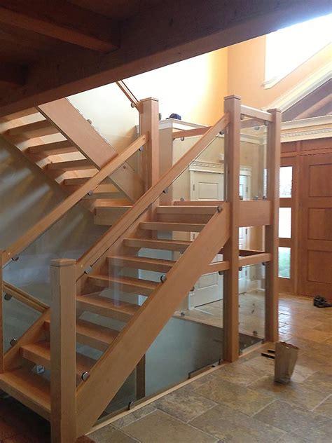 custom timber stairs  railings island timber frame