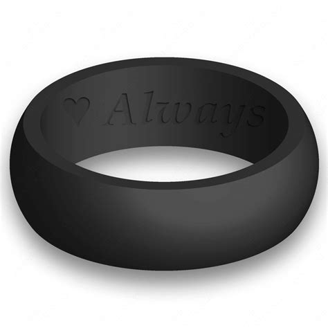 custom engraving mens silicone wedding ring band