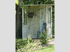 Garden Shed Made of Old Doors 1001 Gardens