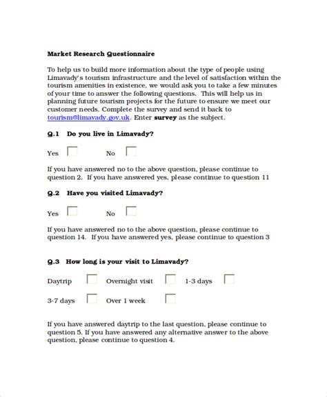 questionnaire template questionnaire template word 11 free word document downloads free premium templates