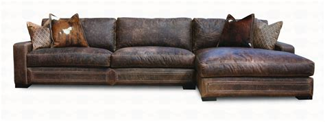 western leather sectional sofa downtown cowboy leather sectional sofa collection santa