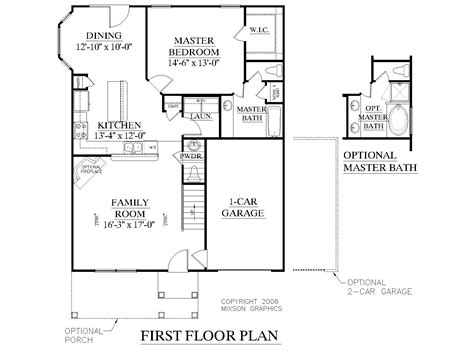 Floor Diagram by Southern Heritage Home Designs House Plan 1820 C The
