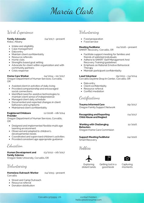 resume exles by real family advocate resume