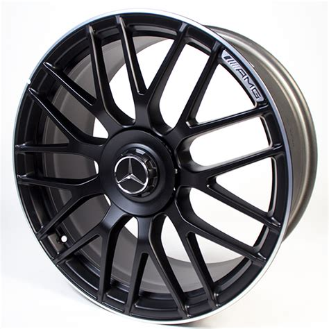 Find mercedes e55 amg wheels at the best price. AMG 19 inch forged wheel C-Class W205 cross-spoke design black original Mercedes-Benz