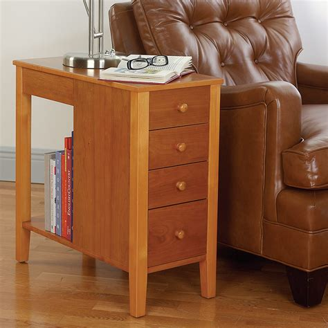 tall narrow end table contemporary living room with natural cherry tall narrow