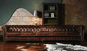 Vintage Leather Chesterfield Extra Large Sofa Luxury Delux Deco
