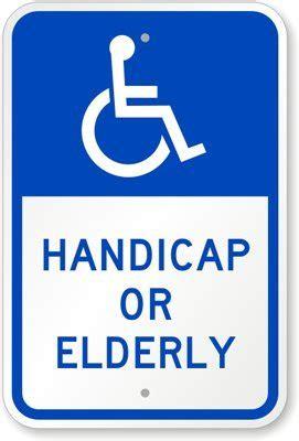 "Handicap Or Elderly (with Graphic) Sign, 18"" x 12"