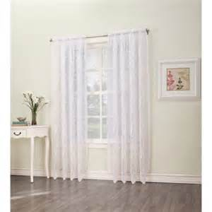 s lichtenberg leona lace curtain panel white walmart com