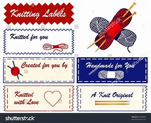 Knitting sewing labels copy space to add name for hand for Hand knit labels