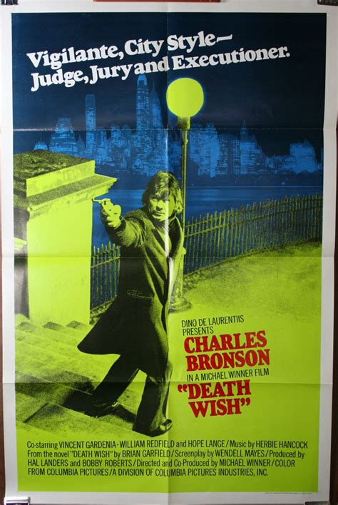It is the first film in the death wish series. DEATH WISH MOVIE POSTER - Original Vintage Movie Posters