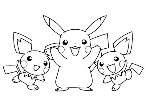 pikachu  pokemon coloring pages coloring pages big