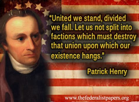 patrick henry united  stand divided  fall
