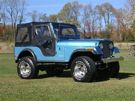 jeep blue and black sell used 1979 jeep cj5 360 classic plate 3 speed manual