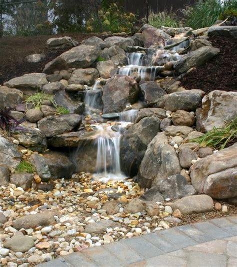 waterfall feature designs 1000 ideas about rock waterfall on pinterest garden fountains diy waterfall and garden waterfall