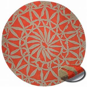 tapis rond de salon rouge esprit home oriental lounge With tapis rond salon