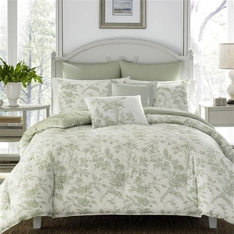 shop laura ashley natalie green comforter bonus set