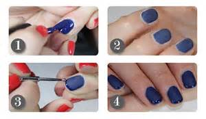 Nail art steps with pictures : Navy nails with shiny tips how to step by nail art