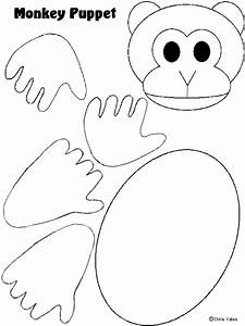 Monkey puppet template pattern templates pinterest for Monkey body template