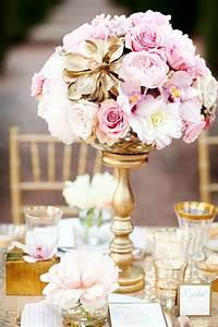 Chemin De Table Rose Gold : decoration mariage rose et or ~ Teatrodelosmanantiales.com Idées de Décoration