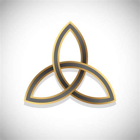 Triquetra Simple Symbol Gold - Download Free Vectors