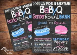 Gender Reveal Invitations BBQ