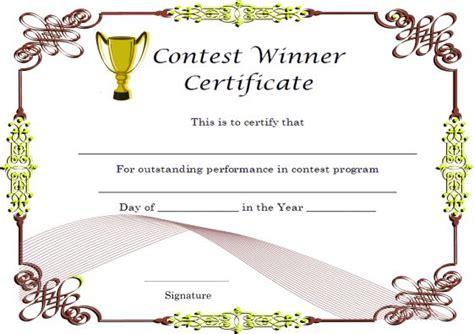 Winner Certificate Template Winner Certificate Template 40 Word Templates For