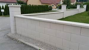 Prix Mur Parpaing Cloture : mur de cl ture en blocs elco alv ol s parement lisse ton ~ Dailycaller-alerts.com Idées de Décoration