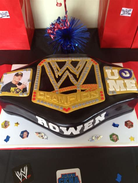 wwe belt cake cake ideas pinterest