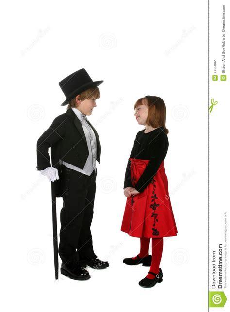 cute young children  formal dressy clothing stock