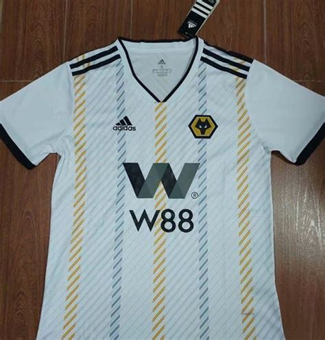 19 20 Season Wolves Away White Color Soccer Jersey Top ...