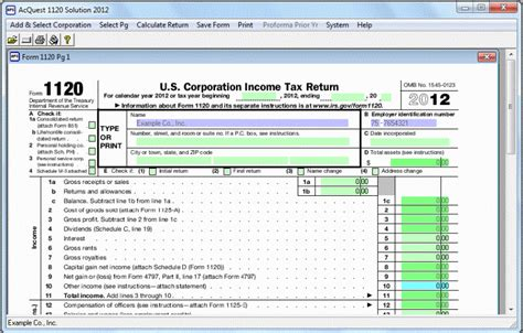 Corporate Tax Return Software Free Download