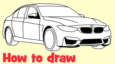 draw  car bmw  sedan step  step drawing youtube