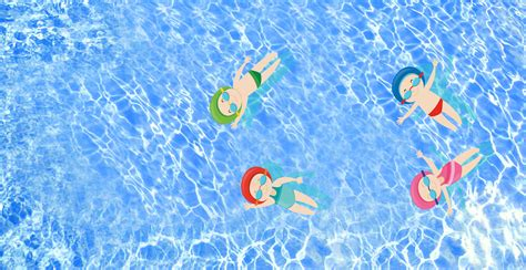 cartoon summer swimming pool blue swimming background