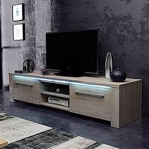 tv schrank lowboard sideboard conoy mit led sonoma eiche m bel24