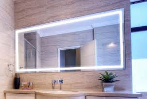 mirror ideas for bathrooms verge bathroom lighted mirror vanity led by clearlight designs