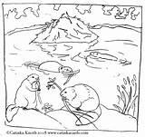 Beaver Coloring Pond Printable Malvorlagen Biber Habitat Beavers Animals Ausdrucken Animal Dibujos Castores Tiere Drawing Ausmalbilder Ausmalbild Colorare Sheets Malvorlagenwelt sketch template