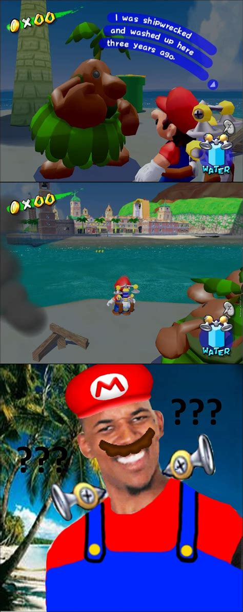 Cast Away Super Mario Sunshine By Alucard2401 Meme Center