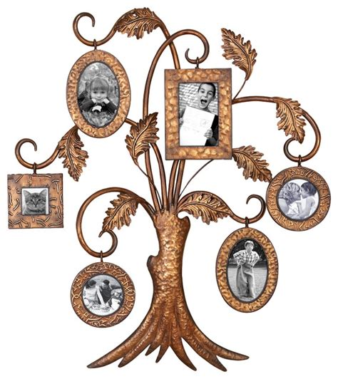 Metal Family Tree Multi Picture Frame Traditional