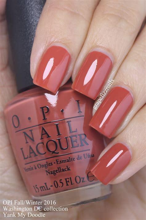 grape fizz nails opi washington dc collection  fall