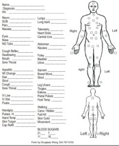 Wound Assessment Diagram by New Assessment Sheet Large Font And A