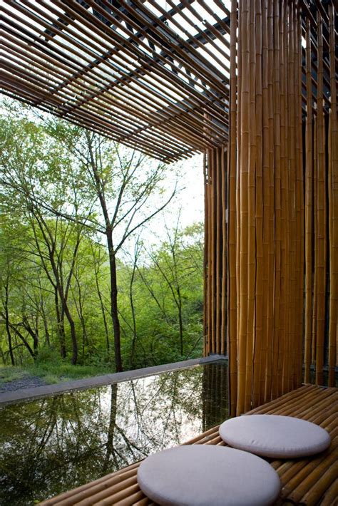 bamboo house commune   great wall architect kengo